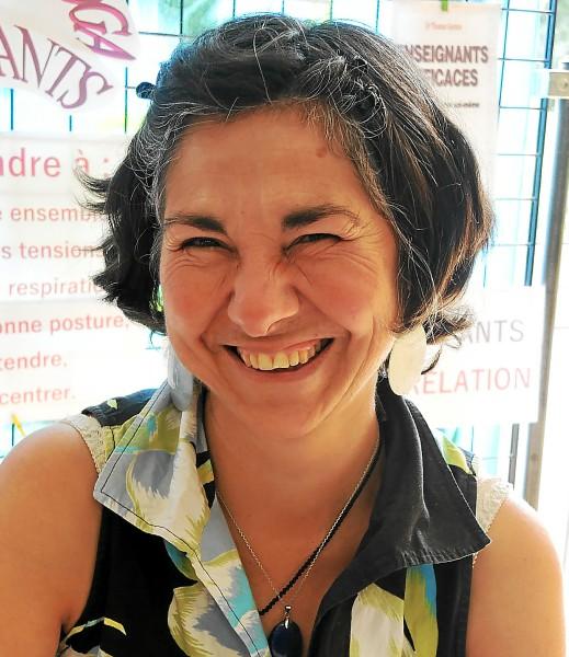 Corinne Brieulle-Collas, professeur de yoga de l'Association Souffle et Mouvement à Meucon dans le Morbihan